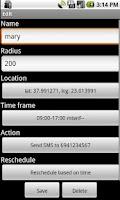 Screenshot of Proximity alerts