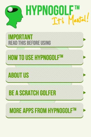 Hypno Golf - Be a Scratch Golf- screenshot