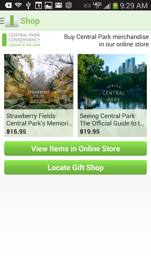 CENTRAL PARK CONSERVANCY- screenshot