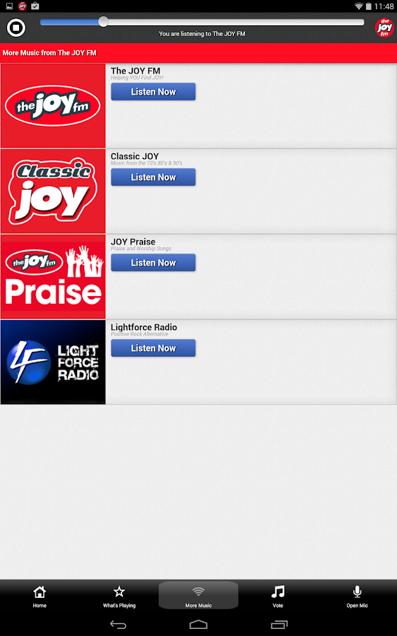 The JOY FM Florida - screenshot