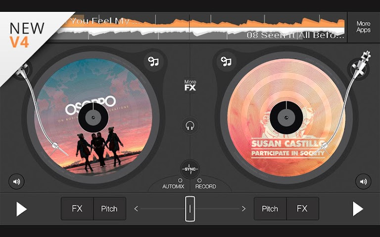 android edjing 5 free DJ musique mixer Screenshot 0
