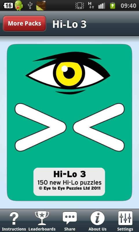 Hi-Lo 3 - screenshot