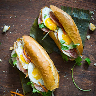 "Vietnamese Fried Egg Banh Mi Recipe (Banh Mi Trung Op La)- ""The Bang Me""."