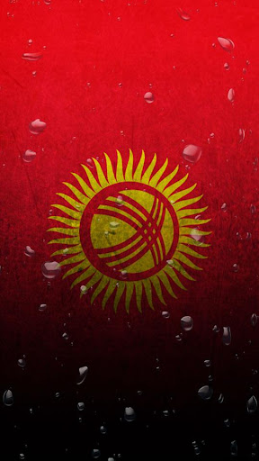 Kyrgyzstan flag water effect