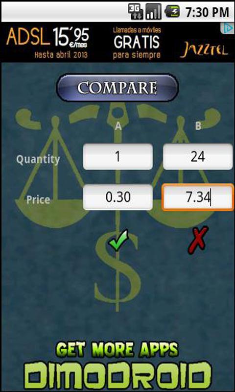 Price Comparator- screenshot