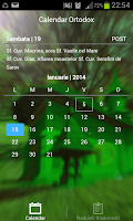 Screenshot of Calendar Crestin Ortodox 2015
