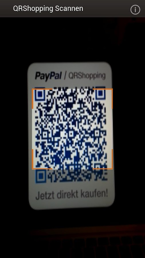 PayPal QRShopping – Screenshot