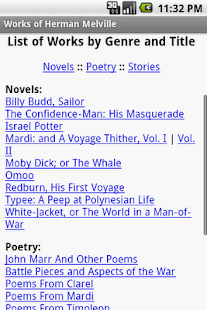Works of Herman Melville- screenshot thumbnail