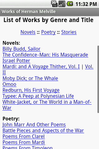 Works of Herman Melville - screenshot