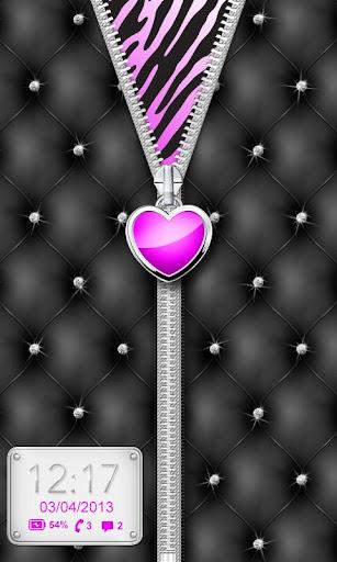 Purple♥Heart Zipper♥Lockscreen