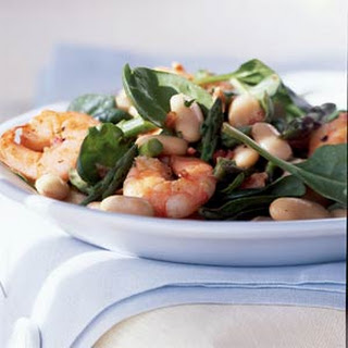 White Bean Salad with Shrimp and Asparagus
