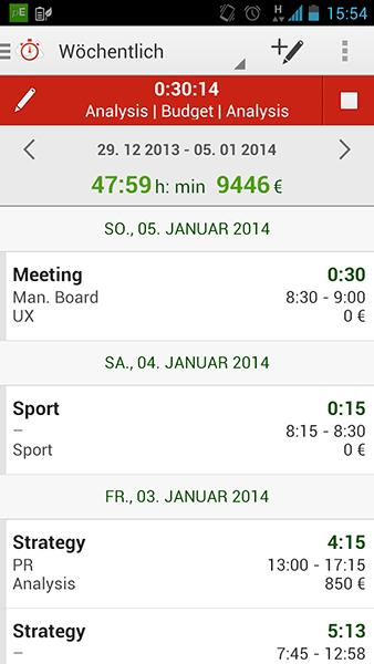 Time Tracking by primaERP – Screenshot