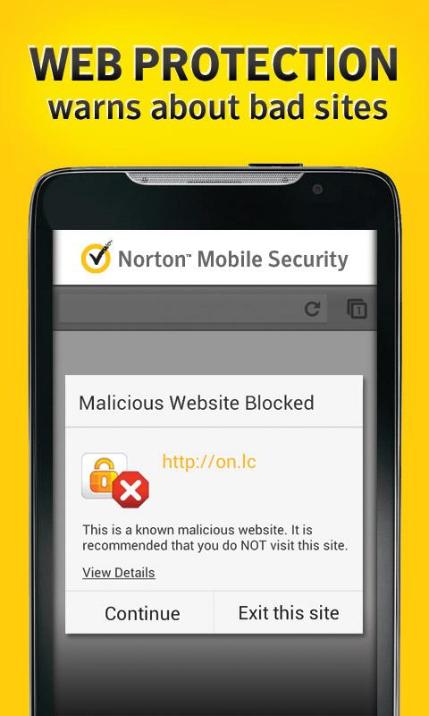 Norton Security antivirus - screenshot