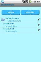 Screenshot of ScheduledSync