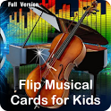 Musical Flip Cards  for Kids. icon