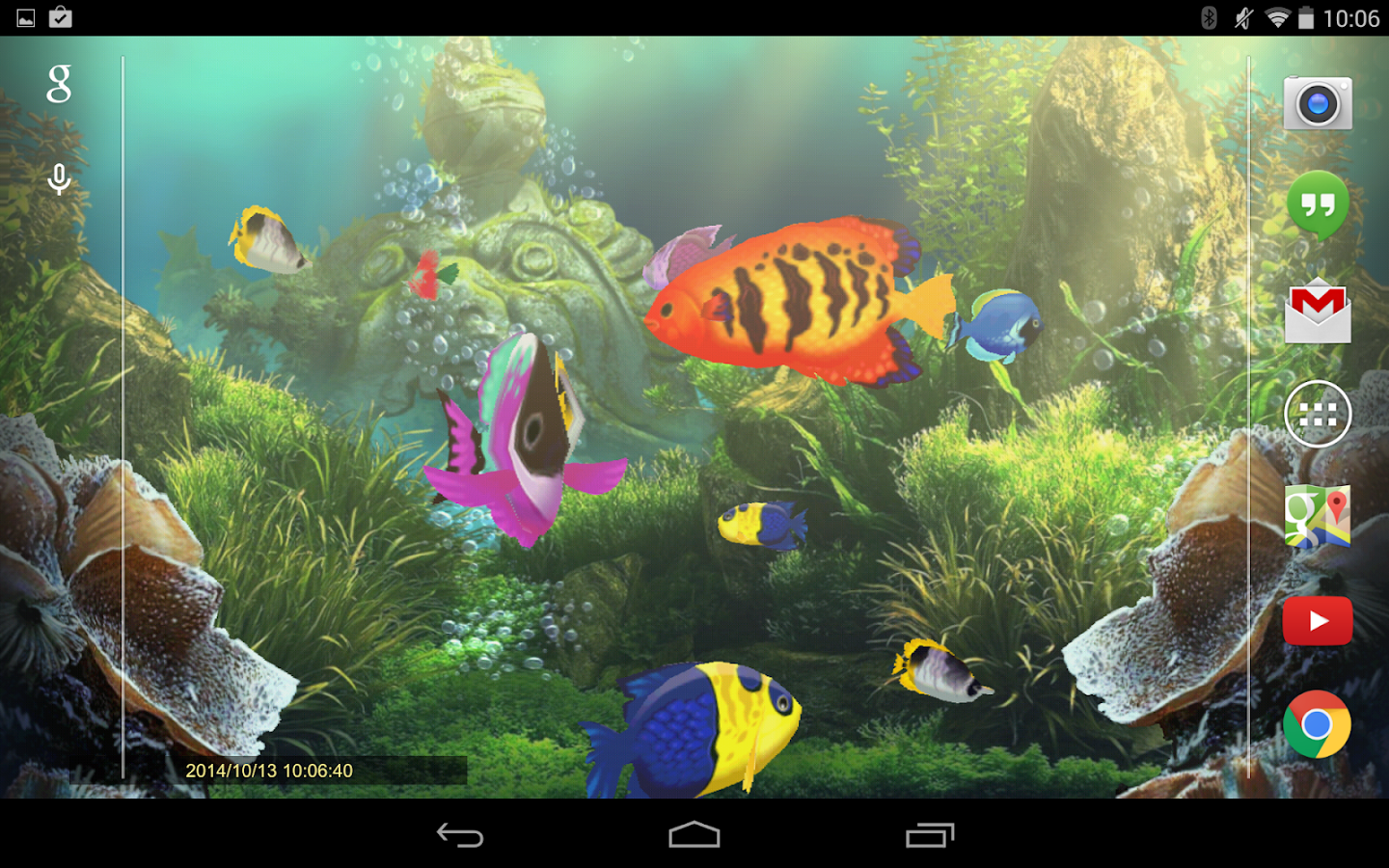 Exotic aquarium lwp ultimate android apps on google play for Google fish tank mrdoob