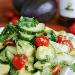 Cucumber, Tomato & Avocado Salad {#PompeianVarietals Olive Oil}