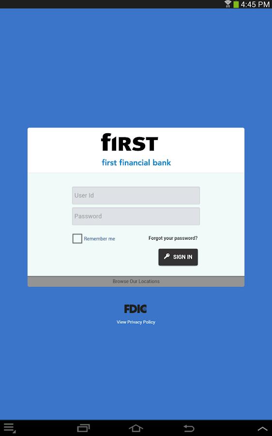First Financial Bank - Mobile - screenshot