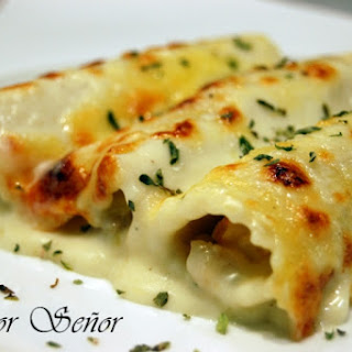 Monkfish and Shrimp Cannelloni.