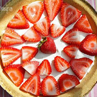 Low Fat Strawberry No-Bake Cheesecake