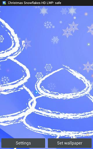 Christmas Snowflakes HD LWP