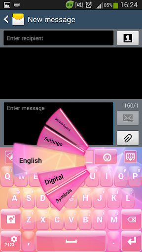 GO Keyboard Pink Colors