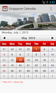 Singapore Calendar - screenshot thumbnail