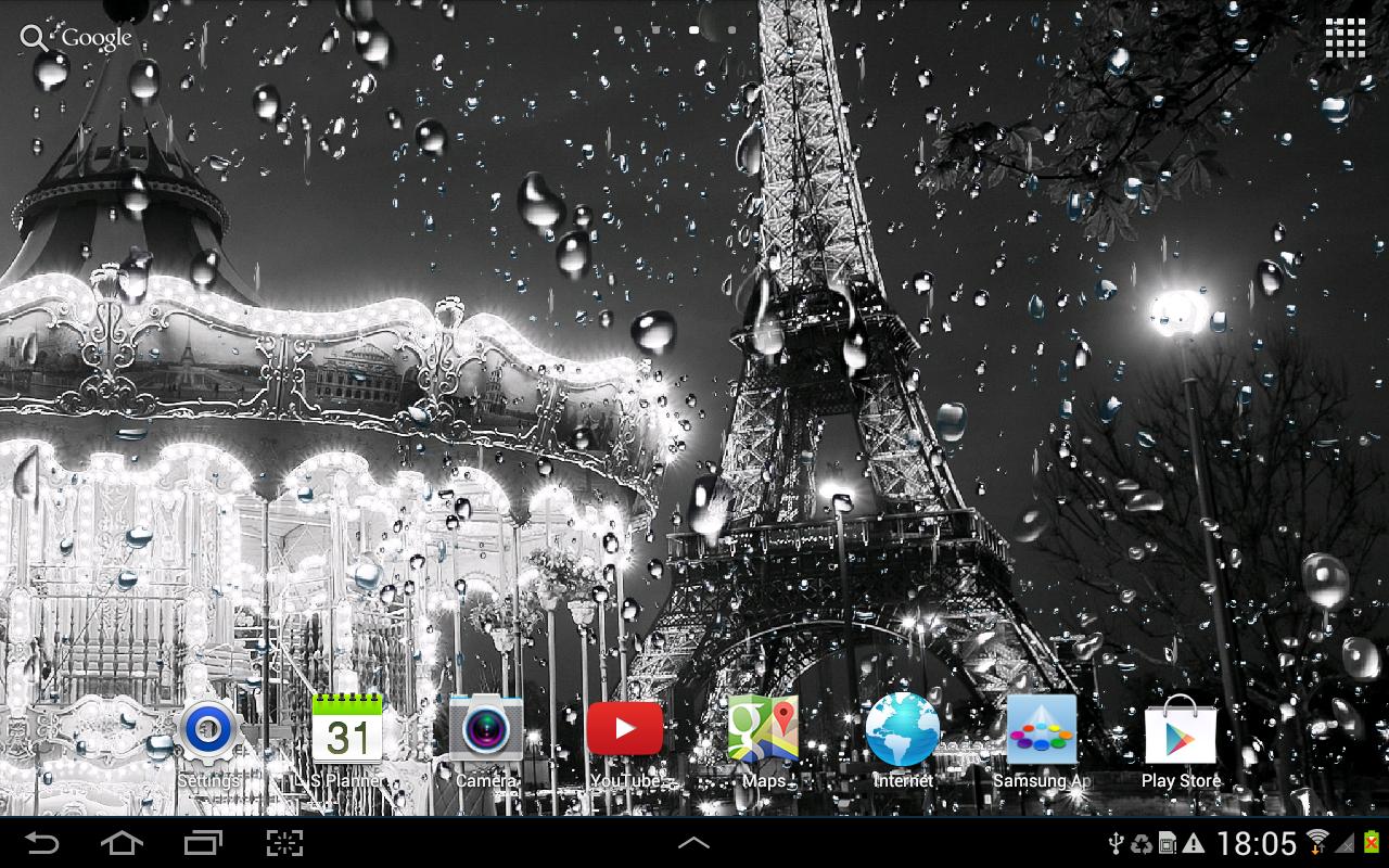 Rainy paris live wallpaper android apps on google play - Paris tower live wallpaper ...