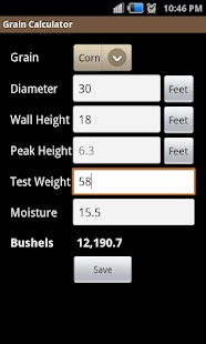 Grain Calculator - screenshot thumbnail