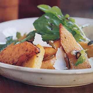 Warm Pumpkin Salad with Polenta and Candied Pumpkin Seeds