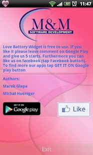 Love Battery Widget - screenshot thumbnail