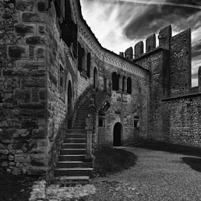 Castle by Andrea Fraccaroli - Black & White Buildings & Architecture
