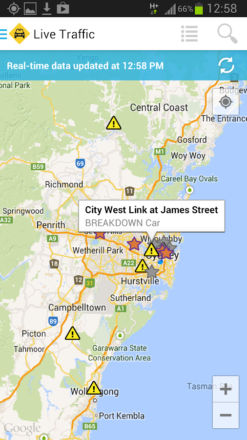 Live Traffic NSW - screenshot