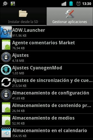 System Apps Manager [ROOT]- screenshot
