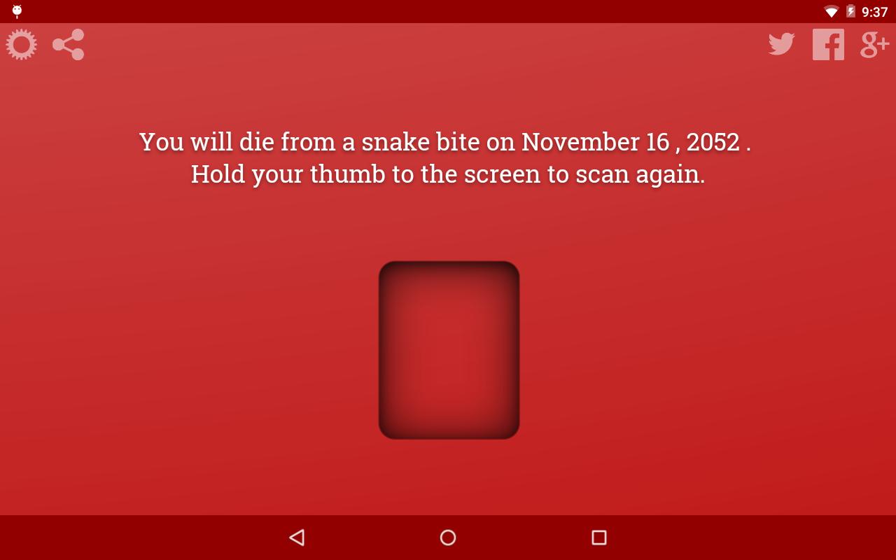 Death Scanner Prank - screenshot