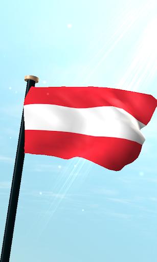 奧地利旗3D動態桌布