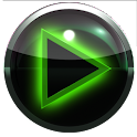 poweramp skin glow green icon
