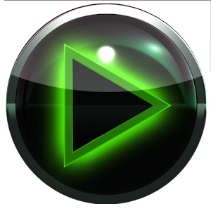 poweramp skin glow green