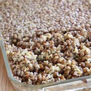 Honey Mustard Lentils & Rice Casserole