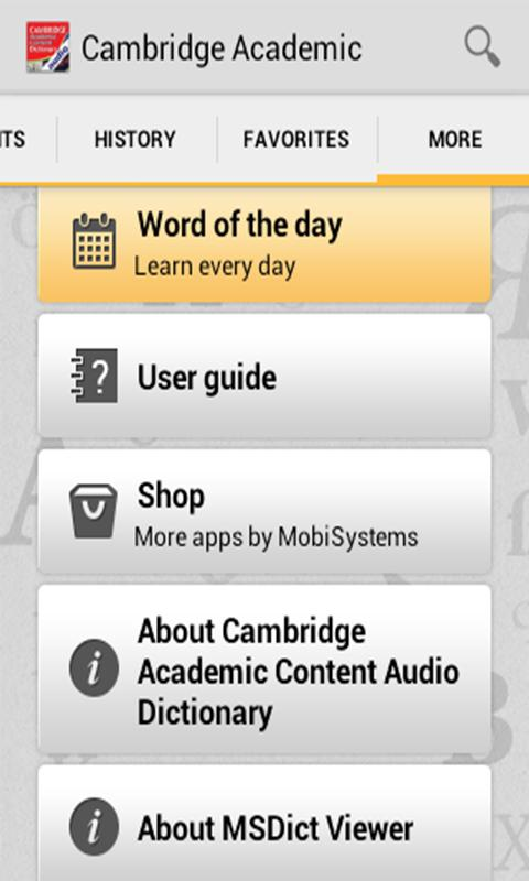 Audio Cambridge Academic - screenshot