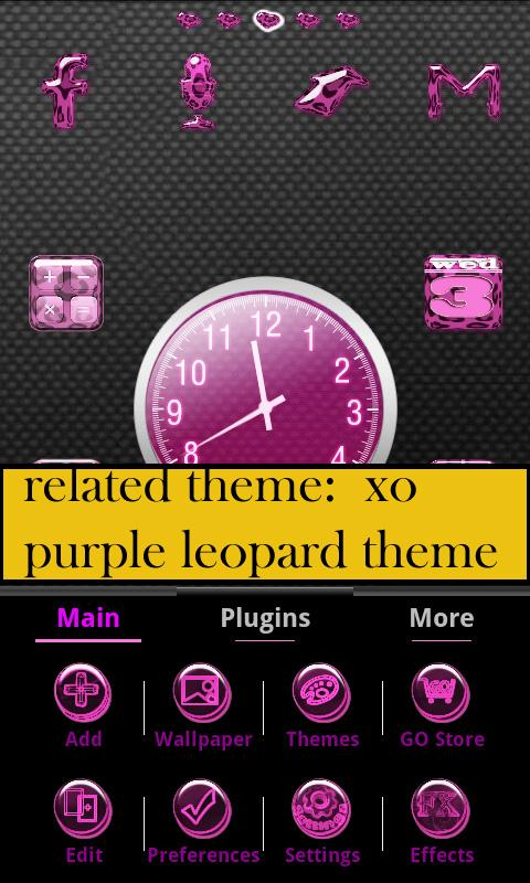 XO pink shoe theme GO Launcher - screenshot