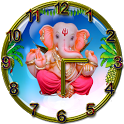 Ganesh Clock  live wallpaper icon