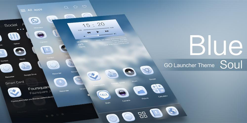 Blue Soul GO Launcher Theme - screenshot