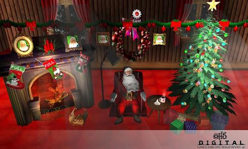 聖誕房間的3D高清