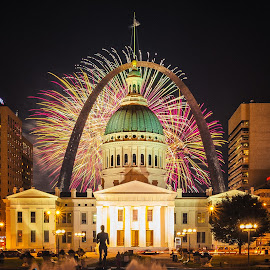 4th of July - St Louis Arch by Hassan A - Public Holidays July 4th ( st louis, arch, fireworks )