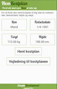 Nem Kostplan - screenshot thumbnail