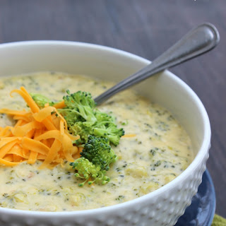 Creamy Broccoli Cheese Soup.