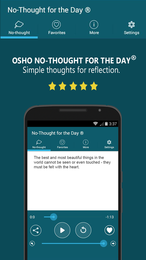 Osho No-Thought for the Day- screenshot