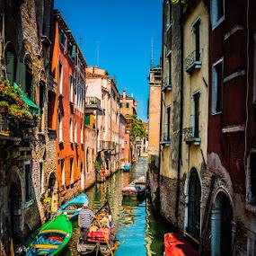 Boat Ride by Chris Pugh - City,  Street & Park  Neighborhoods ( bright, venice carnival italia carnevale venezia, neighborhood, venice, italy, Spring, springtime, outdoors, water, device, transportation )
