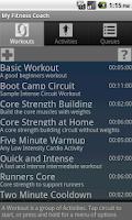Screenshot of My Fitness Coach